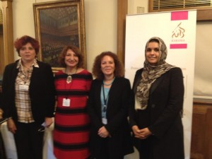 Baroness Hussein-Ece with karama Delegation