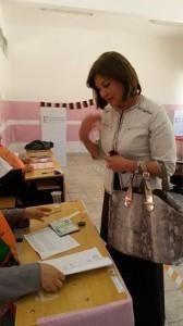 Salwa casting her vote
