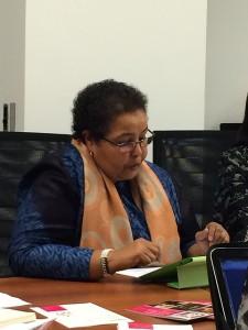 Faiza at Sept 8 Briefing