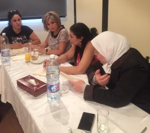Participants spoke of their experience of the conflict and their hopes for the future of Syria
