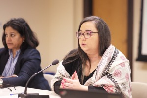 Ghida Anani of ABAAD discussed the institutional inequality faced by women in the region.