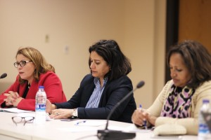 From left to right, Saadia Wadah (Morocco), Jamila Ali Rajaa (Yemen) and Hibaaq Osman (Somalia) attended the discussion.